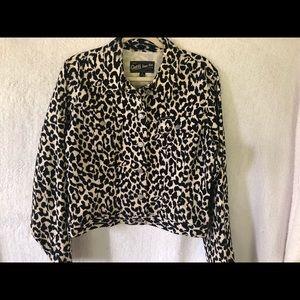 Guess Jeans Snow Leopard Jean Jacket